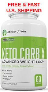 Details About Lose Weight Fast Fat Burner Carb Blocker Energy Natural End Cravings Keto Carb X