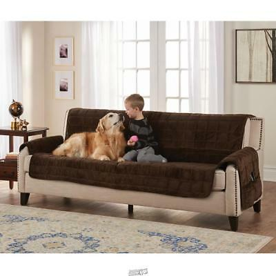 Superb Non Slip Furniture Protecting Pet Cover Sofa 76W X 85D Chocolate Brown Ebay Ocoug Best Dining Table And Chair Ideas Images Ocougorg
