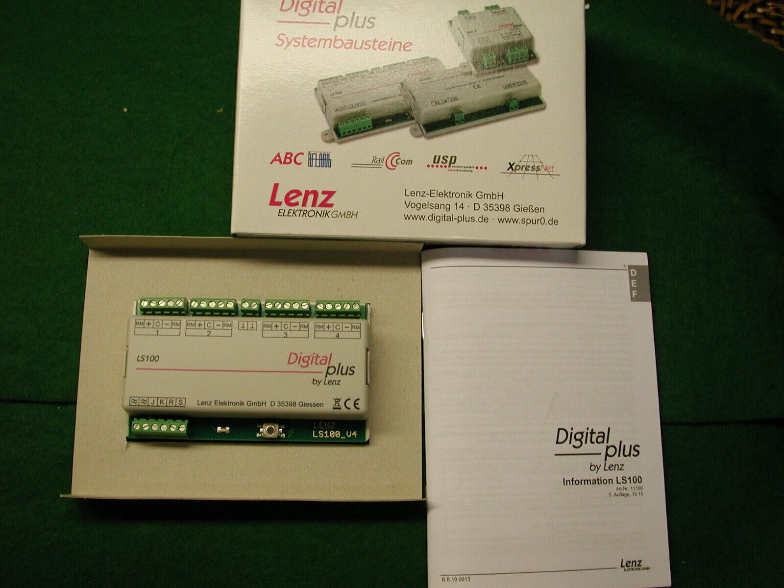 Lenz DCC Elektronik GmbH LS100 módulo de conmutador de posición de cuatro a estrenar en caja