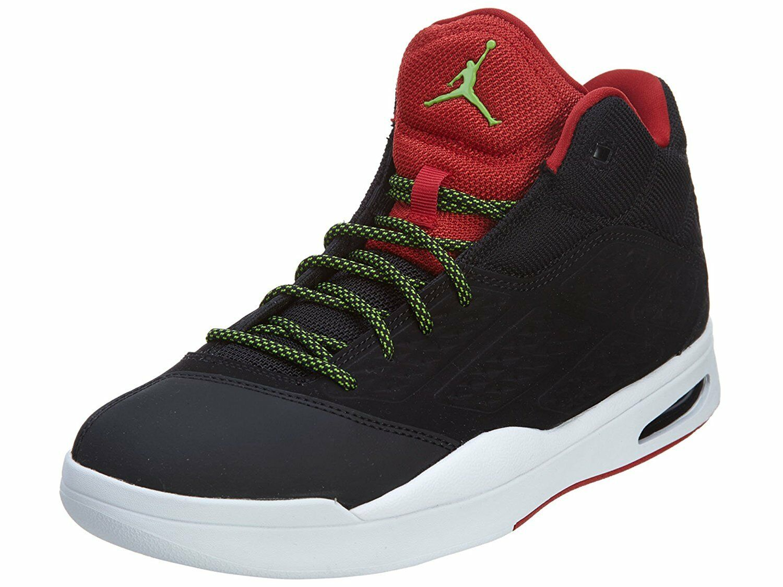 Nike Mens Air Jordan New School Running Shoes Black / Green Pulse / Gym Red ...