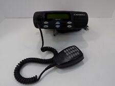 Motorola Cdm1250 Two Way Mobile Radio Unit Aam25rkd9aa2an With Bracket And Mic