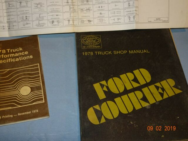 1978 Ford Courier Shop Manual And Wiring Diagram