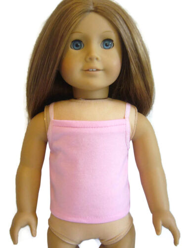 For 18 American Girl Doll Clothes Pink Tank Top Cami Perfect Fit T-Shirt