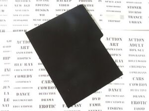 DVD-DIVIDERS-black-20-x-dividers-for-your-film-collection-index-cards-display