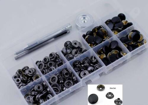 30 Sets inBox withTool Heavy Duty Poppers Snap Fasteners Leather Craft Buttons
