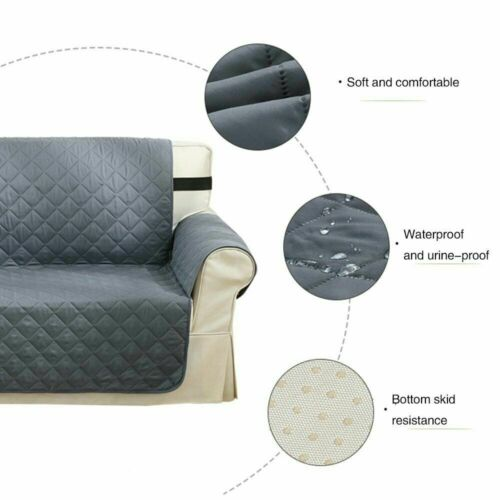 Quilted Sofa Cover Waterproof Furniture Pet Protector Throw Sofa Slip Covers