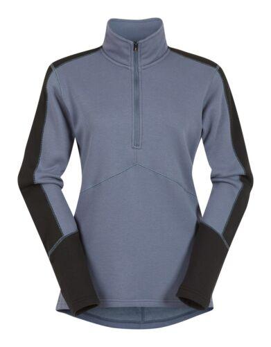 Kerrits Centerline Fleece Zip Neck Blue Shadow