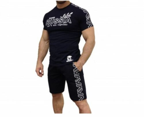T-shirt gagnant klokov Russie shorts limited edition set de remise en forme de croix