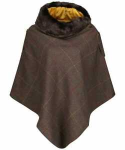 Joules-Hazelwood-Poncho-Brown-Tweed-Now-With-30-Off