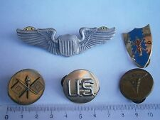 US Army pin badge pilot wings air force,military academy USA md doctor WWII ?