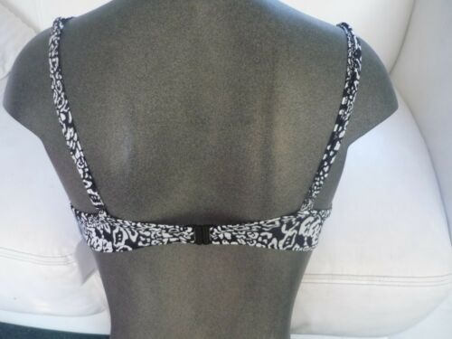 ladies fab bikini top black /& white 32B//34C//34DD left padded underwired New Look