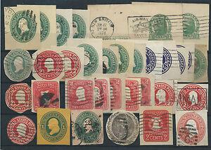 FRANCOBOLLI-1883-1928-USA-STATI-UNITI-LOTTO-RITAGLI-DI-INTERI-POSTALI-D-6064