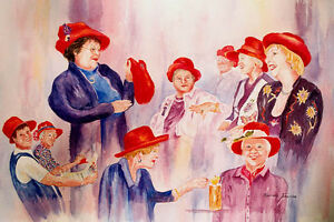 Red-Hats-Ladies-15-x-22-inch-Original-Watercolor-painting-by-Roxanne-Tobaison