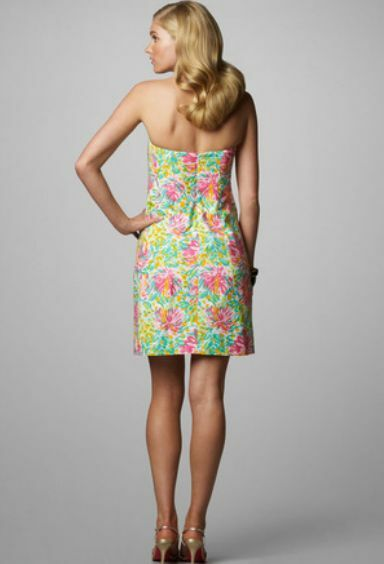 198 Lilly Pulitzer Pulitzer Pulitzer Keetan Classic Little Lilet Floral Print Strapless Dress 10 bed47c