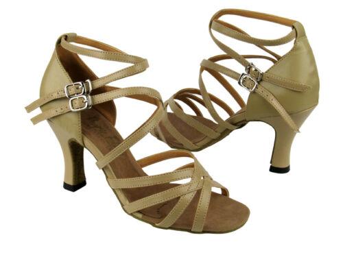 "3/"" Very fine 50089 Leopard Leather Salsa Ballroom Latin Tango Dance Shoes 2.5/"""