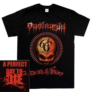 Onslaught-Death-amp-Glory-Shirt-S-XXL-Thrash-Metal-Tshirt-Official-Band-T-shirt
