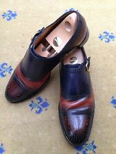 Gucci Mens Shoes Brown Shaded Leather Loafers UK 10 US 11 EU 44 Monk Buckle