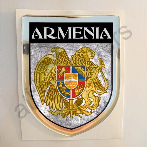 Armenia Adesivi Scudetto 3D Emblema Stemma Sporco Resinato Adesivo Resinati