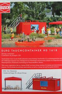 Busch-h0-1618-034-DLRG-tauchcontainer-034-con-accesorios-kit-1-87-h0-nuevo-en-el-embalaje-original