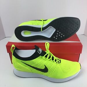 590586bca9b4 Nike Air Zoom Mariah Flyknit Racer Running Men Shoes Volt Yellow ...