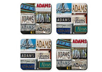 Personalized Coasters Featuring The Name Adams In Photos Of Signs - Set Of 4
