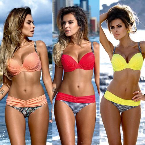 Lady Womens Padded Push-up Bikini Set Swimsuit Bathing Suit Swimwear Beachwear