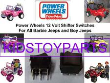 2 NEW! Fisher Price Power Wheels BARBIE JEEP Shifter Rocker Switch 00801-1775