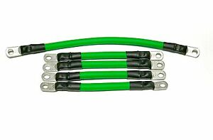 4 Awg HD Golf Cart Battery Cable 5 pc Set GREEN  E-Z-GO 94/UP TXT 36V  U.S.A