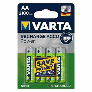 ready for immediate use rechargeable without memory effect 4-pack, 2,600mAh, 4-pack VARTA Rechargeable Ready2Use Pre-Charged AA Mignon Ni-Mh Battery
