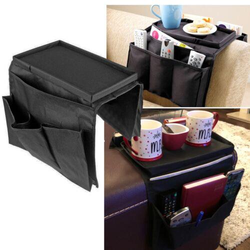 Canapé accoudoir Organisateur Caddy Tray 6 poches Gadgets de stockage distant Titulaire Canapé