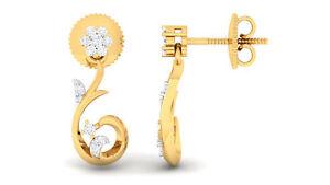 0-20-Cts-Runde-Brilliant-Cut-Natuerliche-Diamanten-Ohrstecker-In-585-14K-Gelbgold