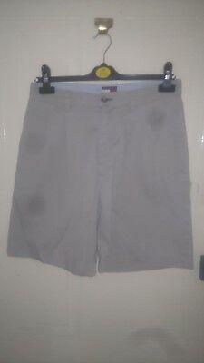 Creativo Pantaloncini Da Uomo Tommy Hilfiger Girovita 30 Pollici Cotone Beige 4 Tasche-