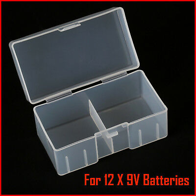 timeless design 6eb06 bd9ee 9v Battery Storage Case/Box/Organizer/Holder for 12×9v Batteries Clear  Plastic | eBay