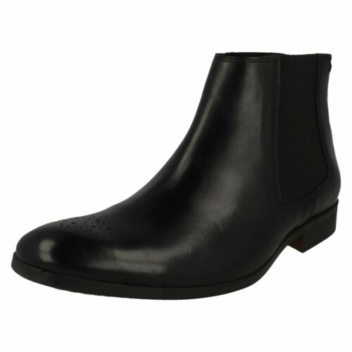 Boots Chelsea Uomo Clarks Smart Pullover Black Gilmore HOgxRqIwg