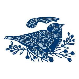 453795 Tattered Lace festivo Pinos Invierno Pájaro Craft Corte Die Set