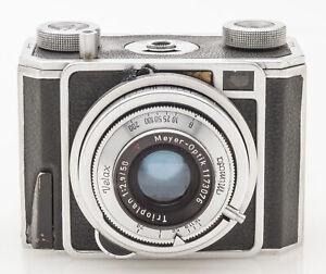 Zeiss-Ikon-VEB-Mimosa-II-Kleinbildkamera-24x36mm-Sucherkamera-Brikett-defekt