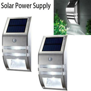 4-Pack-Solar-Powered-LED-Wall-Light-Motion-Sensor-Security-Lamp-Outdoor-Lamp-RF