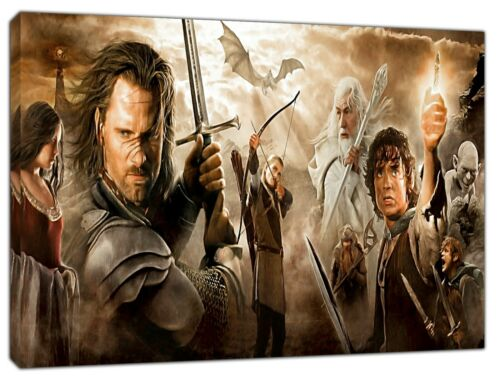 Lord of the Rings Banner Print On Wood Canvas Pictures Wall Art Home Decoration