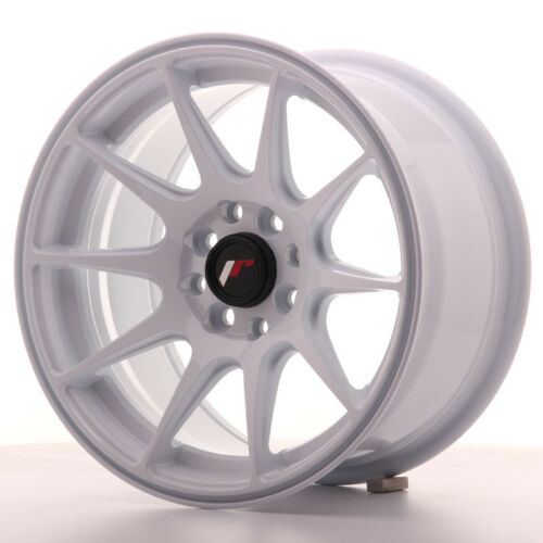 """Un Cerchio in Lega Japan Racing JR11 15/"""" x 8/"""" ET25 4 x 100 114 Bianco"""