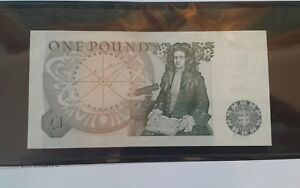 1978-84 £1 Pound Great Britain Obverse:Sir Isaac Newton~Solid Serial 777777 UNC
