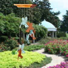 Woodstock Habitats Hummingbird Spiral Wind Chime Outdoor Garden Windchimes HHS