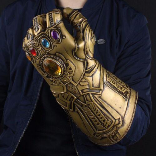 Movie Avengers 3 4 Infinity War Thanos Cosplay Glove LED Light PVC Gauntlet UK