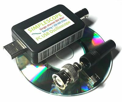 Simplescope 1 Channel PC Computer Digital USB Oscilloscope 1Mhz Sampling