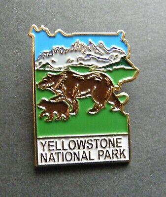 YELLOWSTONE MONTANA WYOMING IDAHO NATIONAL PARK LAPEL HAT PIN 7//8 INCH
