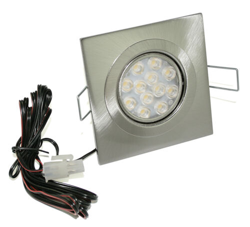 Flat LED Ceiling Mounting Frame 12v Ric Rectangular 3w = 25w Low et 1,5m Cable