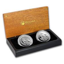 2017 Australia Silver Proof/BU Kookaburra 2-Coin Set - SKU #132695