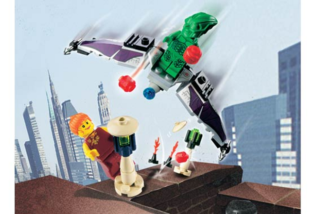 Lego  1374-STUDIOS-Spiderhomme vert Goblin-LEGO STUDIOS - 2002-Sans Boîte  autorisation de vente de la marque