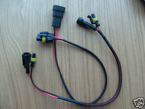 HID-kit-Ballast-Bulb-Wire-Power-amp-Bulb-Extension-35cm-Lead-Set-Car-Motorcycle