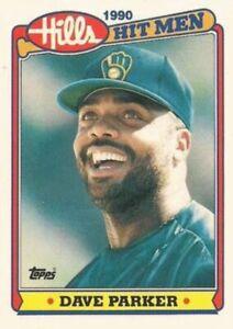 1990 Topps Hills Hit Men Baseball #21 Dave Parker Milwaukee Brewers