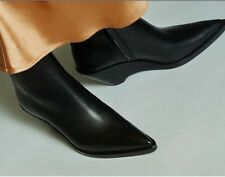 Acne Studios Black Cony Ankle Boots Size 38